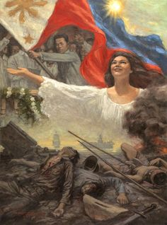 July 1946 - The island nation of the Philippines is given their independence by the United States. This ends four hundred and twenty-five years of dominance by the west. Philippine Mythology, Philippine Art, Filipino Art, Filipino Culture, Philippine Flag Wallpaper, Philippines Culture, Manila Philippines, Surealism Art, Social Media Art