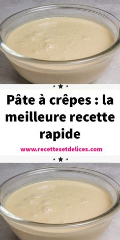 Pancake batter: the best quick recipe - Only here, no good pancakes without a good pancake batter simple and quick to make! The pancake rec - Crepe Recipes, Waffle Recipes, Quick Recipes, Baking Recipes, Thermomix Desserts, Easy Desserts, Dessert Recipes, French Crepes, No Bake Cake