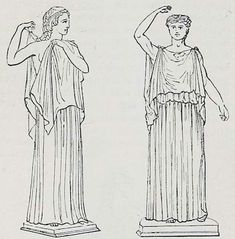 The Roman Tunica or Greek Chiton. The Dorian and the Ionian chiton. Female and male clothing in ancient Rom and Greece. Tunica intima.