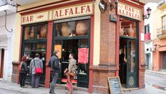 Bar alfalfa. Sevilla, Spain. Lazy Breakfast, cheeky brunch booster or mid-week evening boozing with friends... We liked this authentic bar for tapas and a drink.