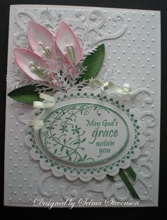 Oh My, this Sympathy Card is as pretty as they come!