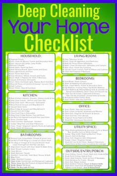 Cleaning hacks and chores to keep house clean - cleaning checklist for deep cleaning your house FAST