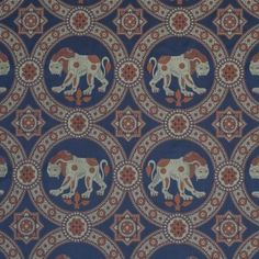 Damask with Lion of Saint Julian, Gold and Blue Inkle Loom, Damask, Lion, Saints, Weaving, Textiles, Costume, Patterns, Fabric
