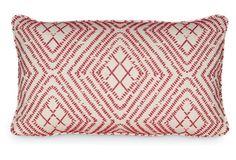 Bengal 12x20 Pillow, Vermilion
