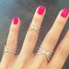 Diamond Sunburst Ring