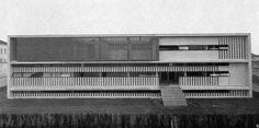 Sanatorium in Alessandria, Italy, by Ignazio Gardella Public Architecture, Contemporary Architecture, Richard Rogers, Santiago Calatrava, Alvar Aalto, Outdoor Sculpture, Postmodernism, Art Deco, Mid Century