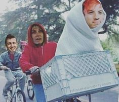 the clique is going to jail let's go save them -Jenna I'm already on my way -Josh What are you doing in the bike basket -Tyler