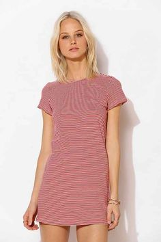 byCORPUS Stripe T-Shirt Dress - Urban Outfitters