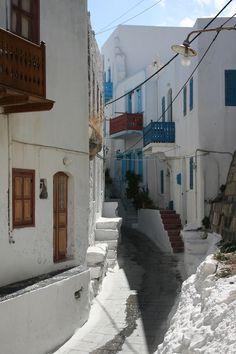 Street in Mandraki, Nisyros Architecture Life, Mediterranean Architecture, Mykonos, Kos, Beautiful Islands, Beautiful Places, Places To Travel, Places To See, Greece Pictures