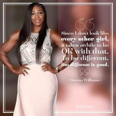 Serena Williams has the best quotes -- she's one fierce female Serena Williams Quotes, Venus And Serena Williams, Serena Williams Tennis, Sarena Williams, Fierce Women Quotes, Quotes Women, Tennis Quotes, Pretty Quotes, Fabulous Quotes
