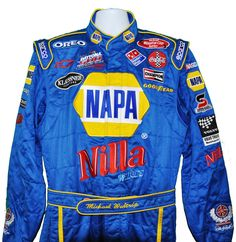 NASCAR MICHAEL WALTRIP NILLA SIGNED Race Driver Suit worn at The Winston 2003