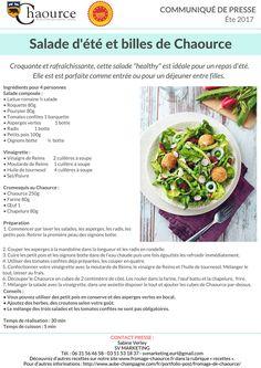 Recette de salade colorée et billes de Chaource #Charouce