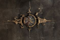 hand made steam punk clock. wow.