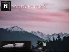 A mural of mountains under a pink sky Found in TSR Category 'Sims 4 Walls' Sims 4 Tsr, Sims Community, Sims Resource, Sims 4 Custom Content, Pink Sky, Electronic Art, 13 Year Olds, Wall Murals, Improve Yourself