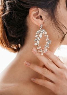 Eg /_ Damen Boho Strass Ohrringe Halskette Party Club Braut Schmuck-Set La