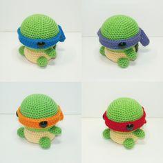Teenage Mutant Ninja Turtles by Heartstringcrochet.deviantart.com on @deviantART