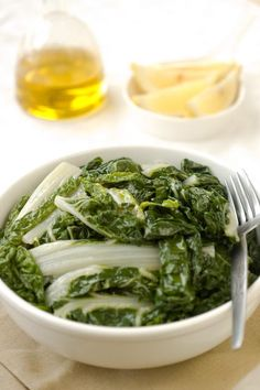 Greek Horta (greens) & ladolemono