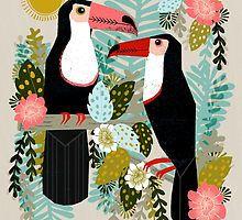 Toucans by Andrea Lauren  by Andrea Lauren