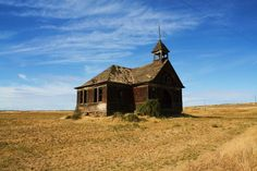 Govan school built Near Almira, WA old school house summer