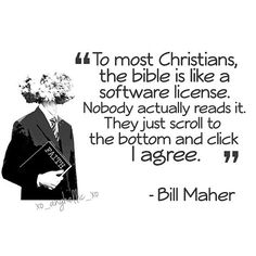 Many of us who search for meaning, read the Christian Bible more closely than the Tea Party types ever will. Sad.