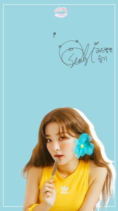 Kpop Girl Groups, Kpop Girls, Lock Screen Wallpaper, Iphone Wallpaper, Velvet Wallpaper, Red Velvet Seulgi, My Sunshine, Photo Cards, Asian Girl