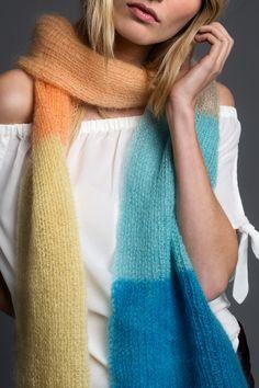 Kostenlose Strickanleitung: Langer Schal aus Mohairseidengarn - Initiative Handarbeit