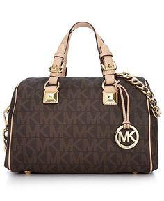 MICHAEL Micheal Kors Handbag, Grayson Monogram Medium Satchel - Shop All - Handbags & Accessories - Macy's  Diese und weitere Taschen auf www.designertaschen-shops.de entdecken