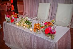 Sweetheart table found on Modern Jewish Wedding Blog | Miami Elegant Modern Jewish Wedding