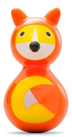 Kid O Fox Wobble - Push, pull or grab this colorful wobbling fox and its rounded, weighted bottom will always spin it Holiday Gift Guide, Holiday Gifts, Creating Games, German Toys, Gross Motor Skills, Age, Forest Animals, Toddler Toys, New Toys