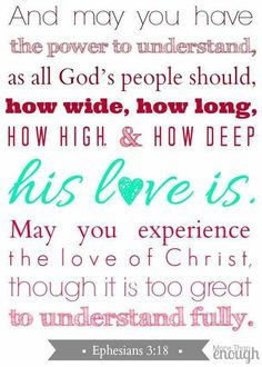 His love is