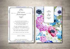 "Einladung ""Blumengarten"" Vintage zur Hochzeit Invitation Text, Floral Invitation, Change Request, Print Release, Vintage Invitations, Custom Buttons, Initials, How To Apply, Romantic"
