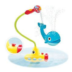 New from Yookidoo is the bathtime toy Submarine Spray Whale, which makes a bit of a mess, but all in the name of science-based water play.