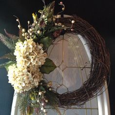 Fall wreath grapevine wreath Hostess gift by angieswreathsandmore, $50.00