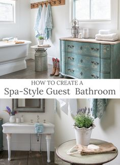 I want our houseguests to feel comfortable and pampered when they stay with us, so I go the extra mile to make sure they have everything they need. That extends to the amenities in the bathroom, so I have found an affordable and beautiful way to keep the bathroom stocked and looking great all season. Today I'm sharing my tips for how to create a spa-style guest bathroom that your company will love! Modern Farmhouse Design, Modern Farmhouse Bathroom, Farmhouse Style, Walmart Home, Bathroom Styling, Bathroom Storage, Bathroom Kids, Elegant Homes, Bathroom Inspiration
