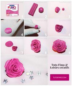 Tuto Rose en Fimo