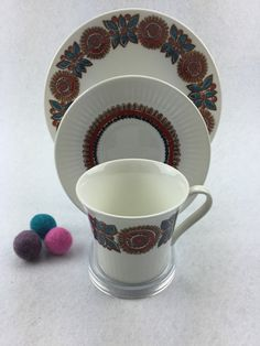 Figgjo Flint  Astrid  Coffee trio set  Turi door shopretrovintage