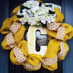 Burlap Wreath - Style #2 by JulesysTreasures on Etsy https://www.etsy.com/listing/241033867/burlap-wreath-style-2