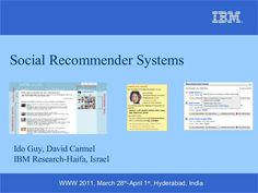 social-recommender-systems-tutorial-www-2011-7446137 by idoguy via Slideshare