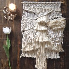 White mountain macrame wallhanging by Ranran Design