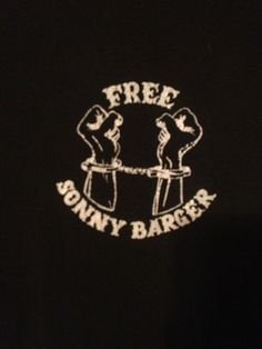 """Hells Angels """"Free Sonny Barger"""" shirt from the 90s. Yes, please."""