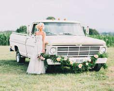 Peach farm wedding inspiration | Photo by Rachel May Photography | Read more - http://www.100layercake.com/blog/?p=78392