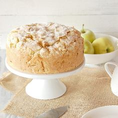 A traditional Irish cake stuffed with apples, a crunchy sugar top, drizzled with warm custard sauce.