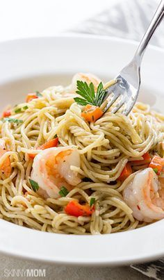 You will LOVE our healthy version of shrimp scampi! Only takes minutes to make, your entire family will love this dish.