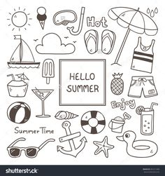 Image result for summer time doodles