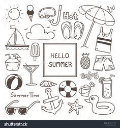 Image result for summer time doodles