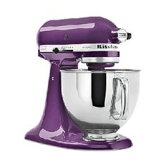 Mine isn't purple but I LOVE my Kitchenaid.  Lee and Chandler couldn't find tape so they held the wrapping paper together with bandaids!