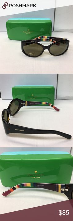 NWT Kate Spade Sunglasses with Case Brand New!   Beautiful Kate Spade Sunglasses with Case and cleaning cloth!   Color: Tortoise  Model: Kinsey/S  **NOTE: This frame might need to be professionally adjusted. kate spade Accessories Sunglasses