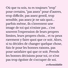 Top Quotes, Fact Quotes, Girl Quotes, French Love Quotes, Motivational Quotes, Inspirational Quotes, French Expressions, Self Love, Don't Forget