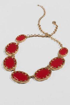 Clarinda Filigree Stone Necklace