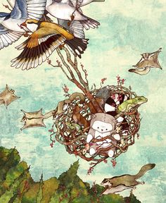 With All the World Beneath Me. Series for an original children's story by BreeAnn Veenstra    bree@lullafly.com
